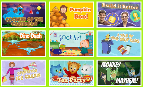PBS Kids' website has a lot of fun games and activities!